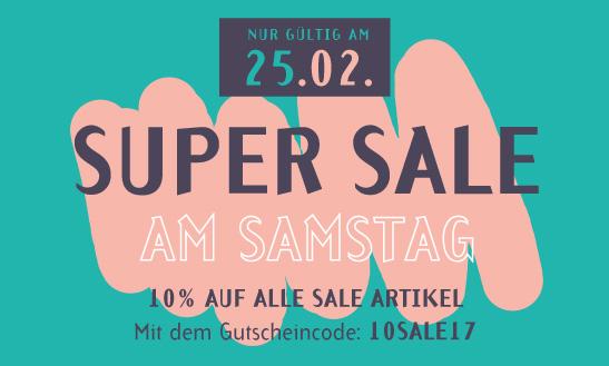Super Sale am Samstag