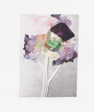 KAUF DICH GLÜCKLICH Postkarte Kristall
