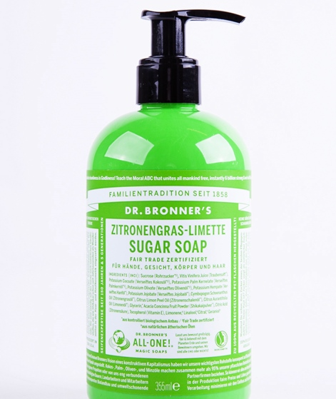 DR.BRONNER`S Shikakai Soap Lemongras-Lim