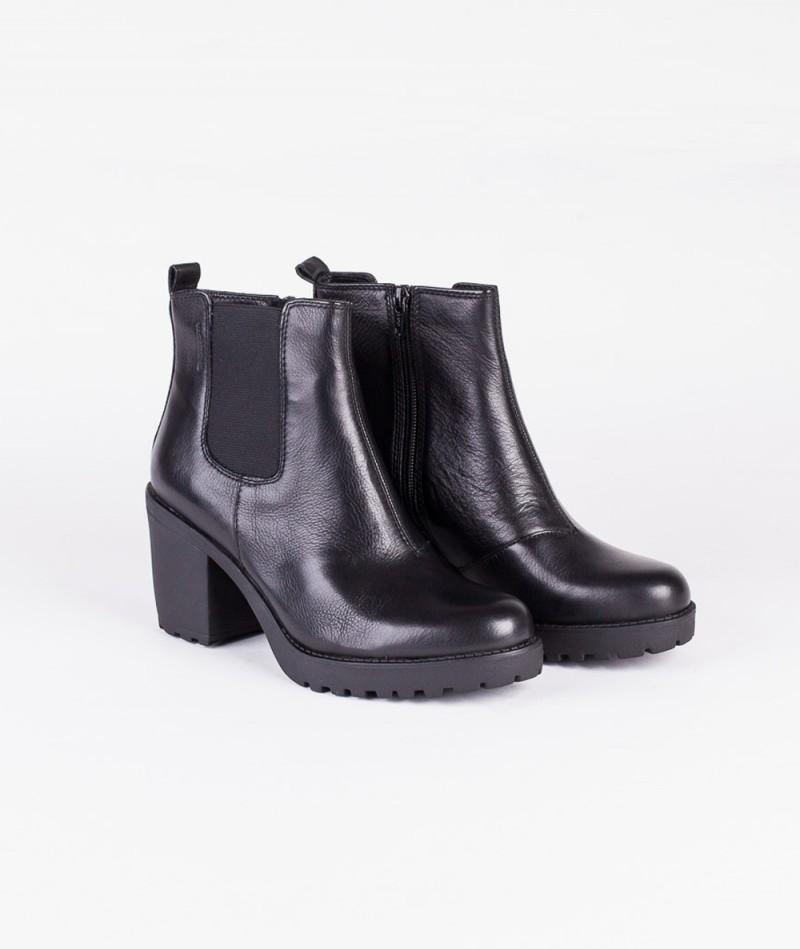 VAGABOND Grace Zipboot black glatt