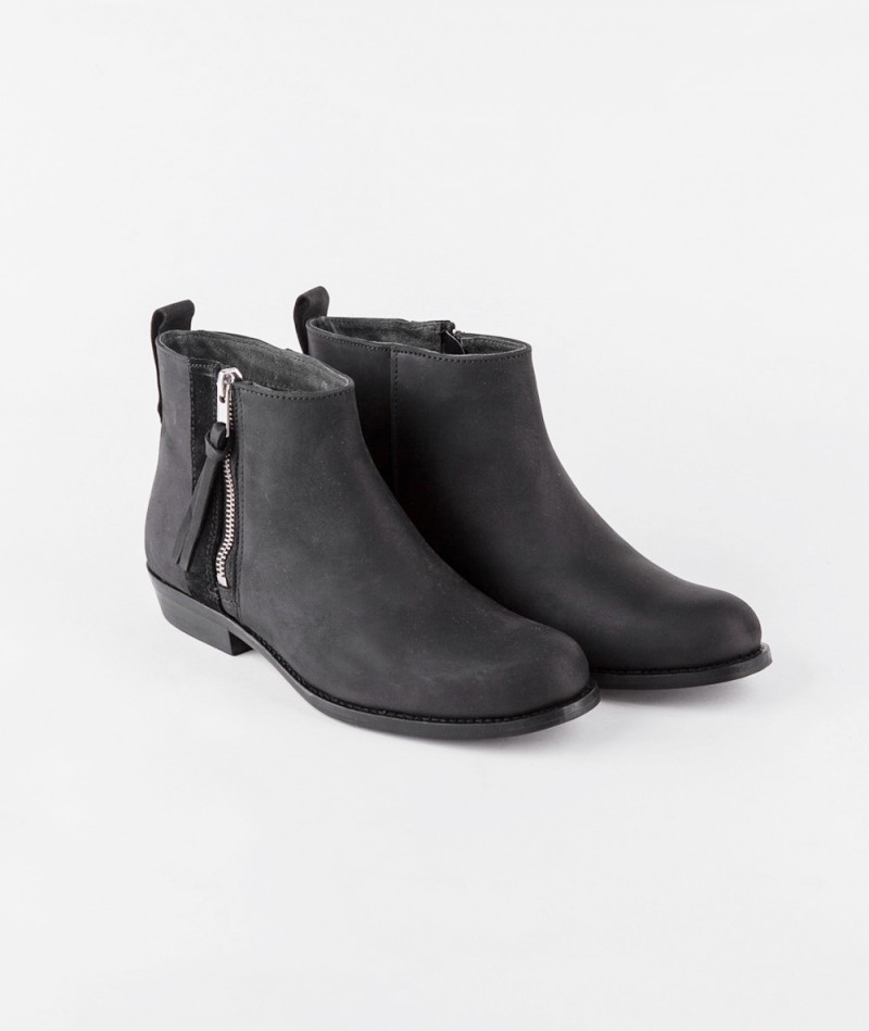 SHOEBIZ Zip Boot suede black