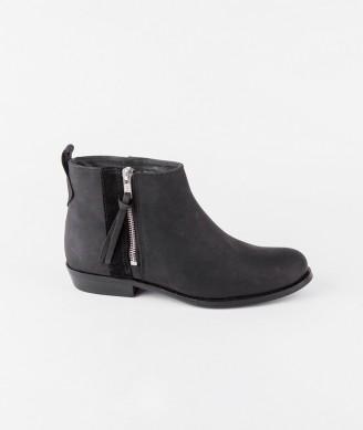 SHOEBIZ Zip Boot suede black