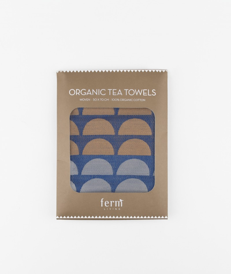FERM Bridges Tea Towel Geschirrtuch blue