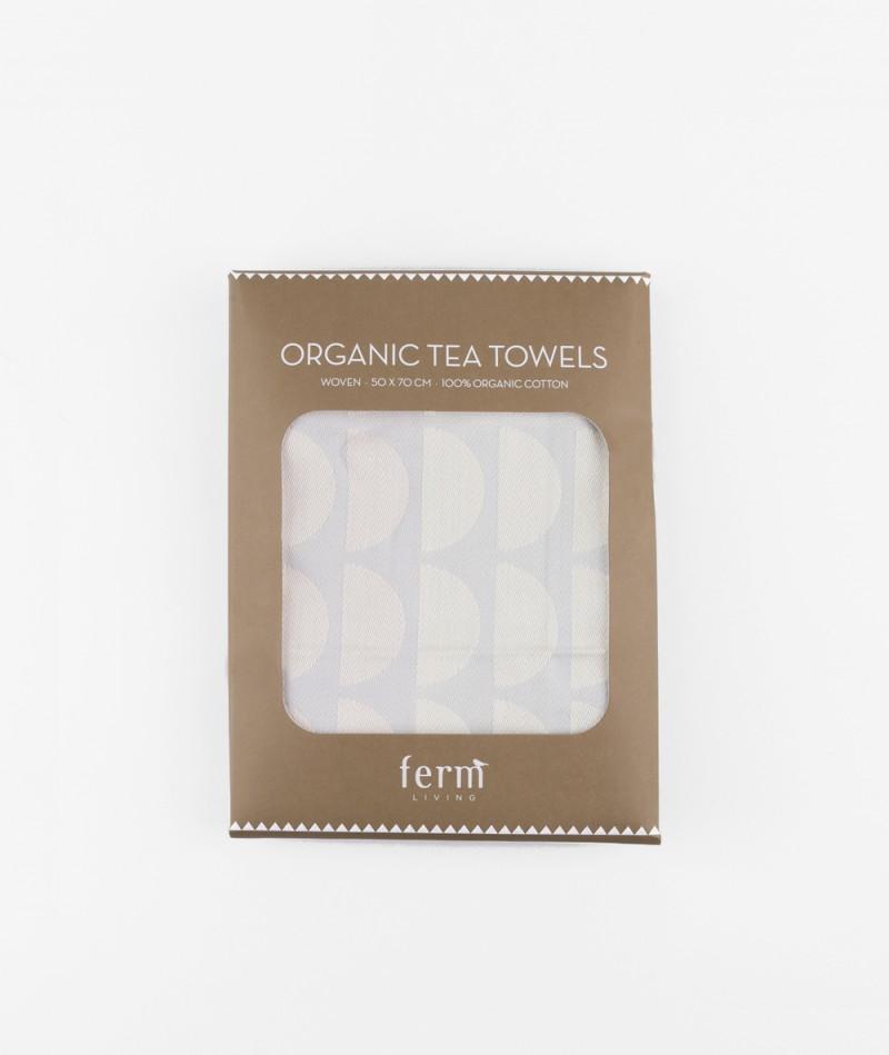FERM Bridges Tea Towel Geschirrtuch grey