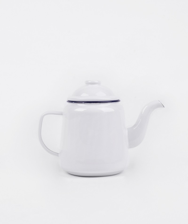 FALCON Teapot original white blue