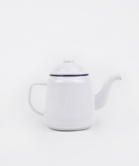 FALCON Teapot original white blue