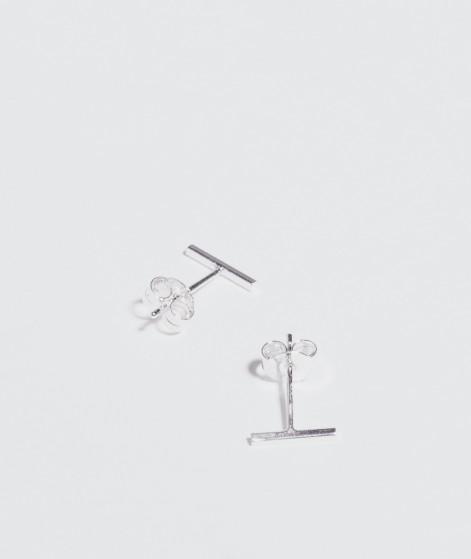 JUKSEREI Linie Ear Stud silber