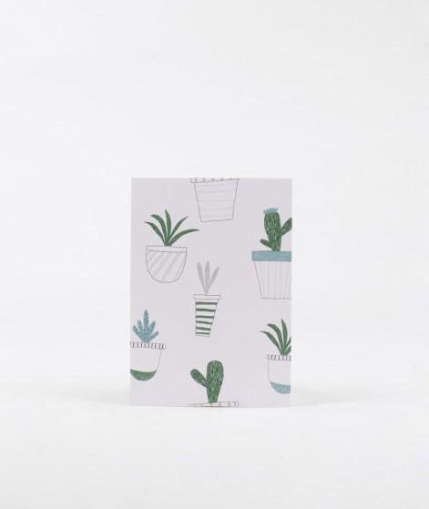 KAUF DICH GLÜCKLICH Postkarte Kaktus