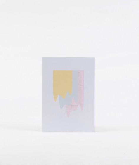 KAUF DICH GLÜCKLICH Postkarte Farbmuster
