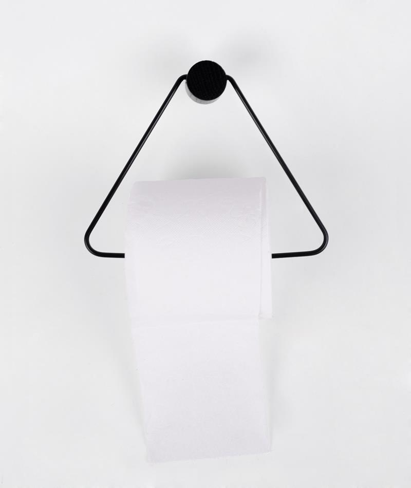 FERM Toilet Papierhalter black