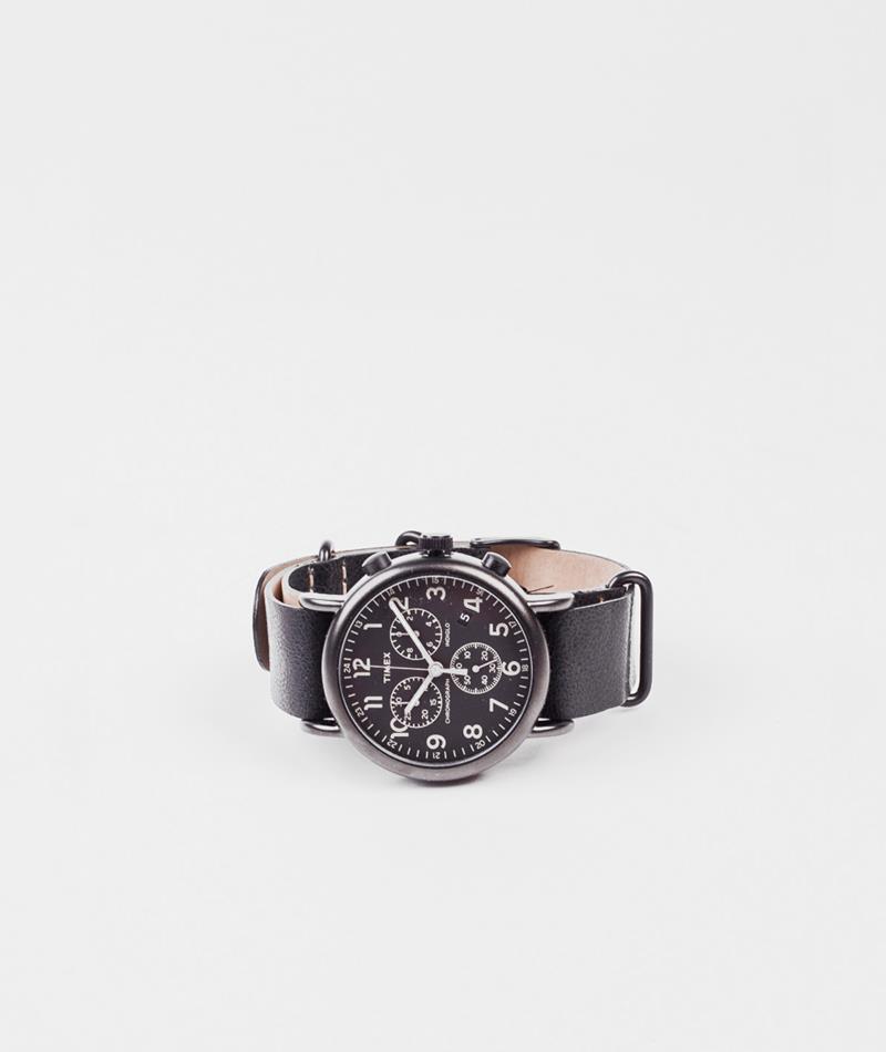 TIMEX Weekender Chronograph Uhr schwarz