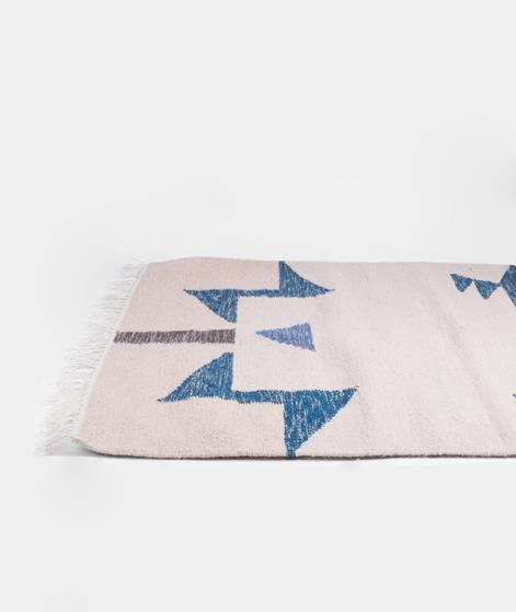 FERM Kelim Rug Blue Triangles small