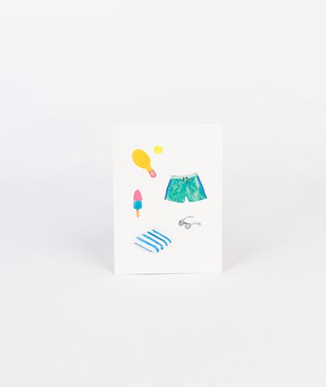 KAUF DICH GLÜCKLICH Postkarte Strand