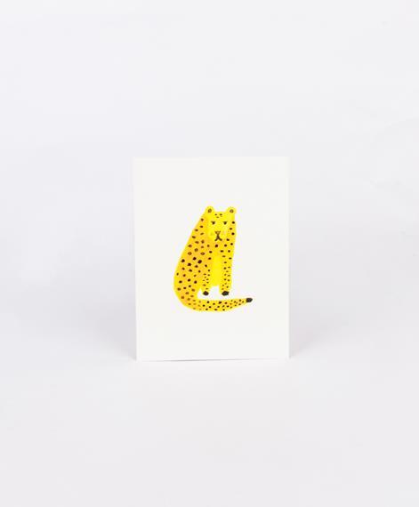 KAUF DICH GLÜCKLICH Postkarte Leopard