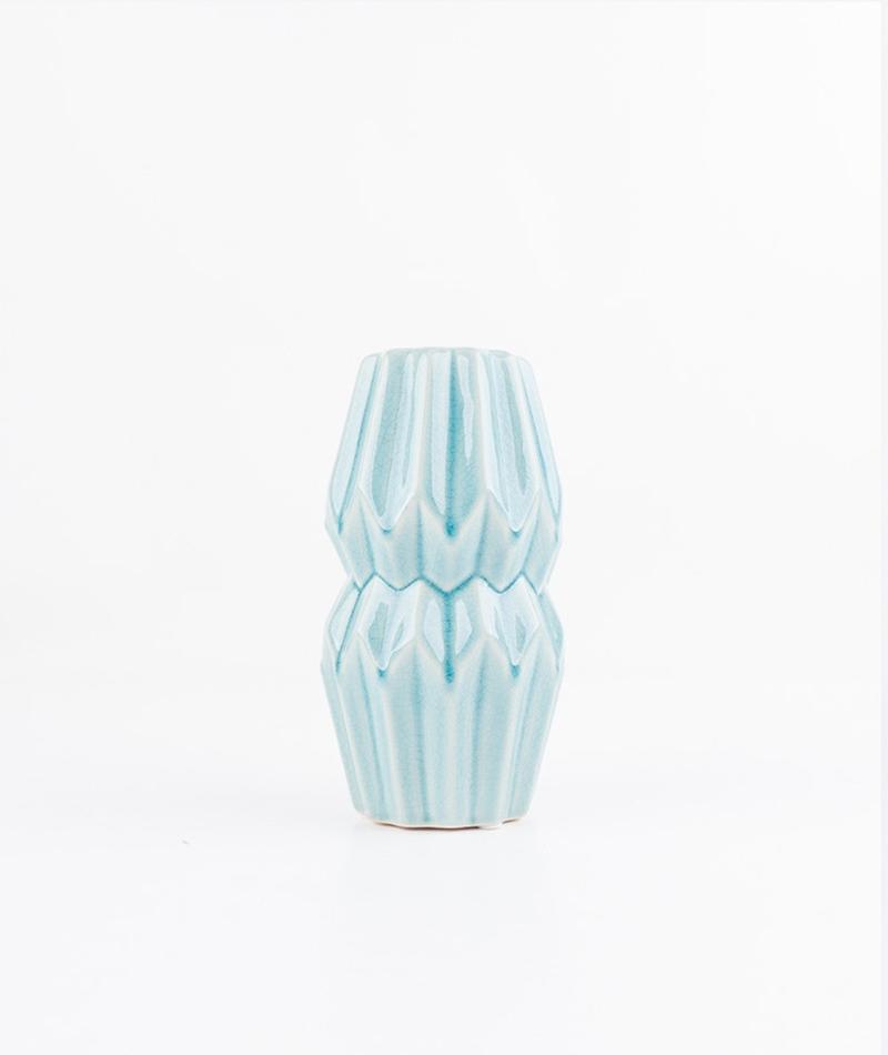 BLOOMINGVILLE Vase sky blue