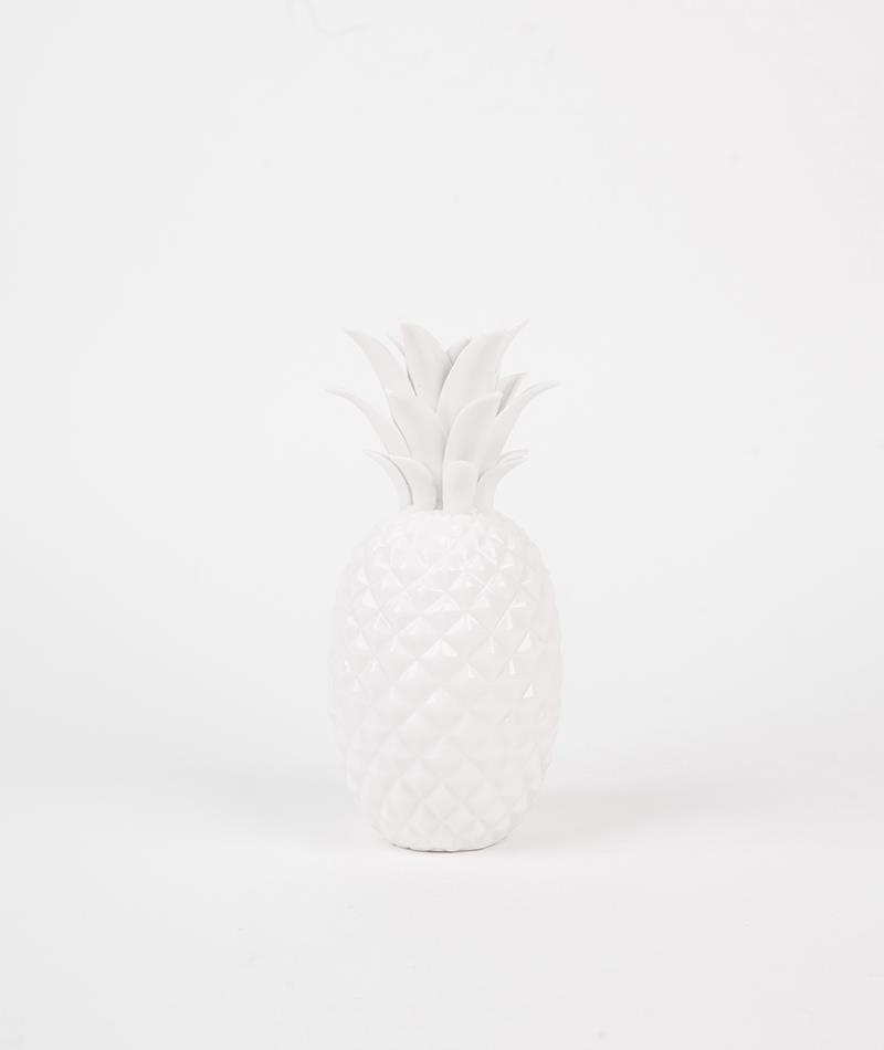 BLOOMINGVILLE Pineapple Deko white