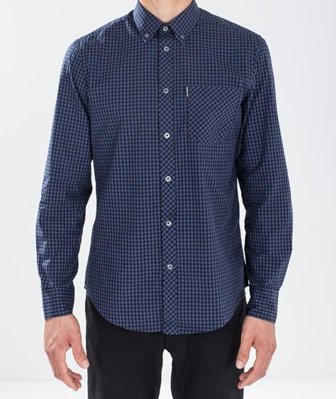 BEN SHERMAN Gingham Oxford Hemd phantom