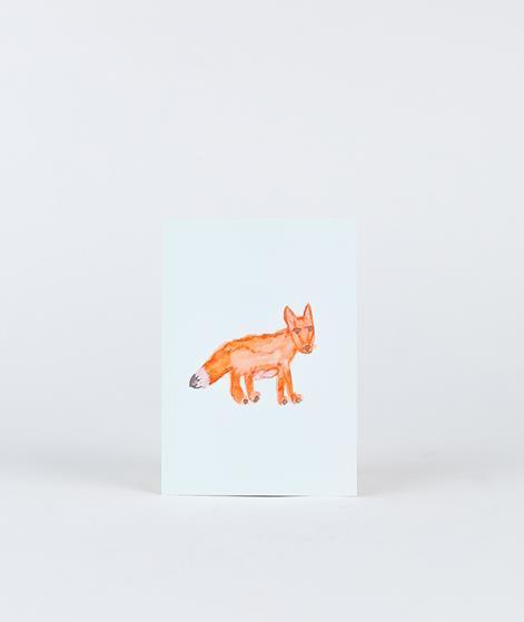 KAUF DICH GLÜCKLICH Postkarte Fuchs