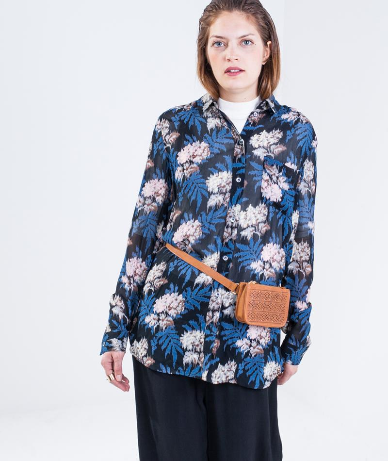 GANNI Park Row Bluse autum flower