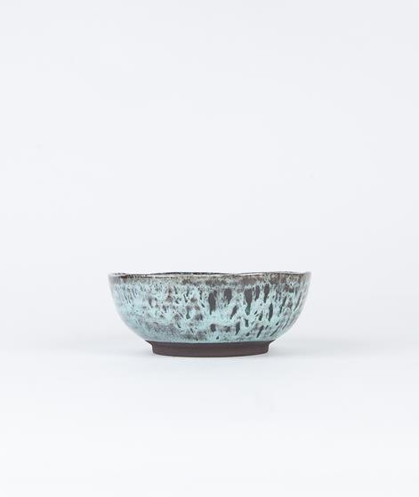 MADAM STOLTZ Stoneware Bowl grey w/dot