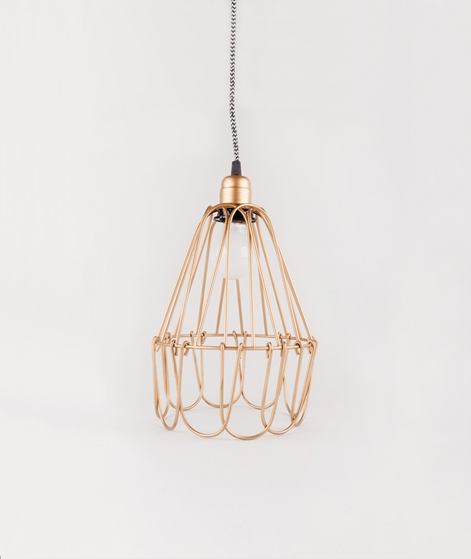 MADAM STOLTZ Wire Lamp gold