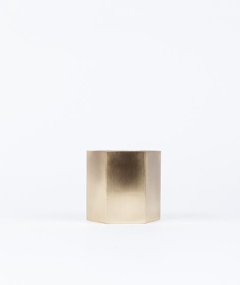 FERM Hexagon Pflanzentopf gold