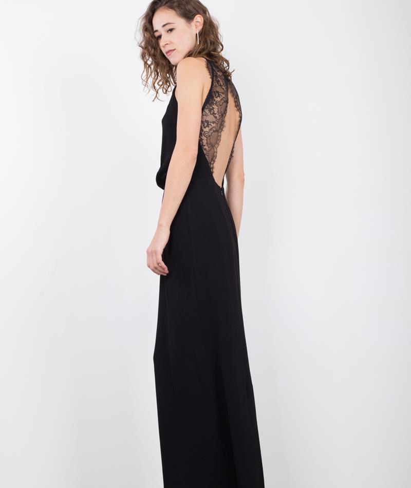 SAMSOE SAMSOE Willow long Kleid black