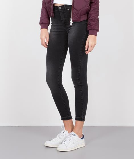 GLOBAL FUNK Nine Jeans black undone hem