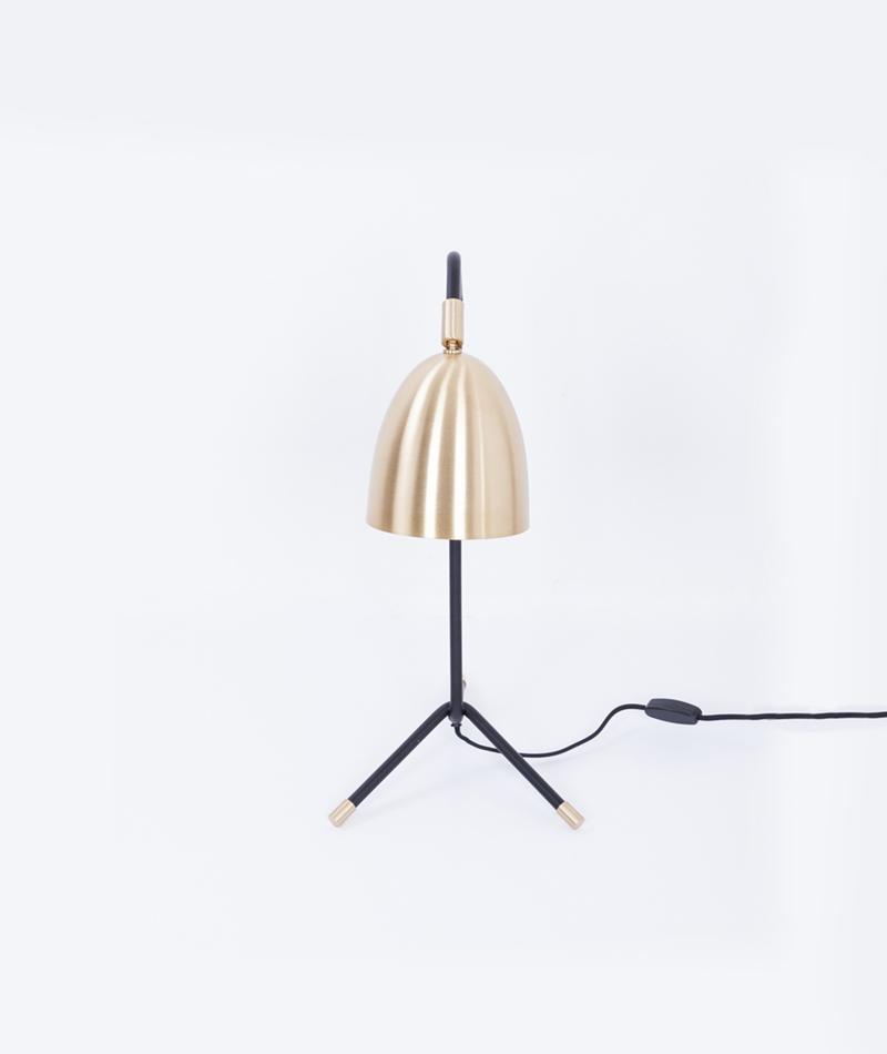 H. SKJALM P. Table Lamp brass/black