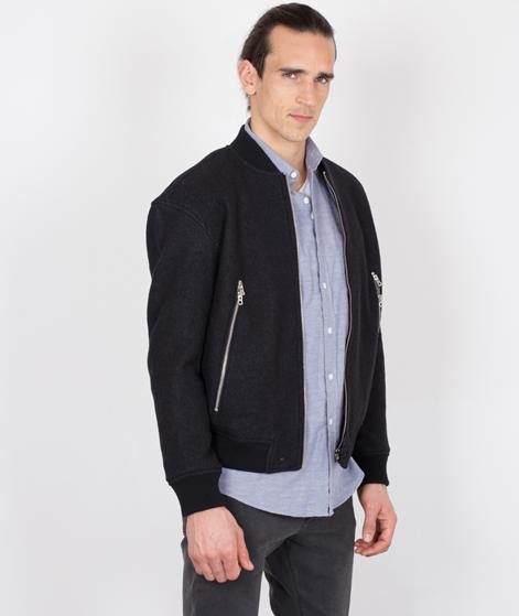 TOPMAN Wool Bomber Jacke black
