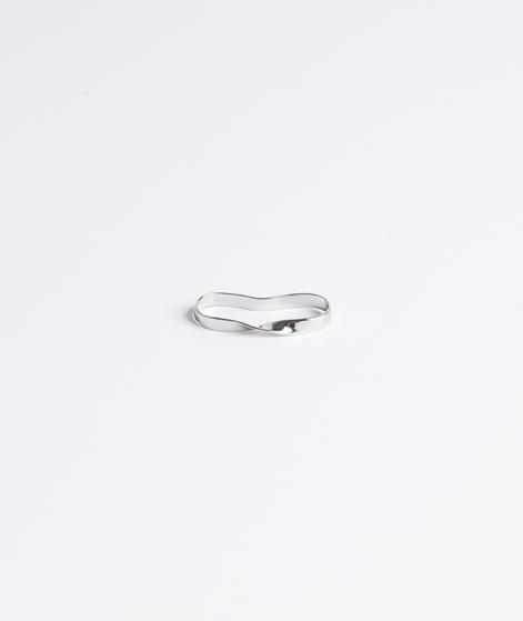 CHEAP MONDAY Spiral Two Ring rhodium