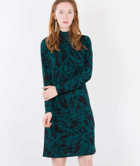 GANNI Doherty Kleid Green Garden
