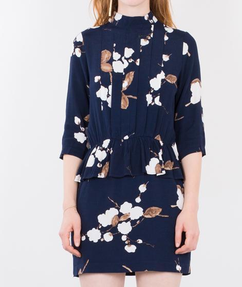 GANNI Ryder Kleid Navy Japanes Flower