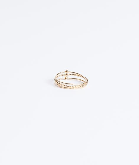 BDM STUDIO Baque Hindi twisted Ring gold