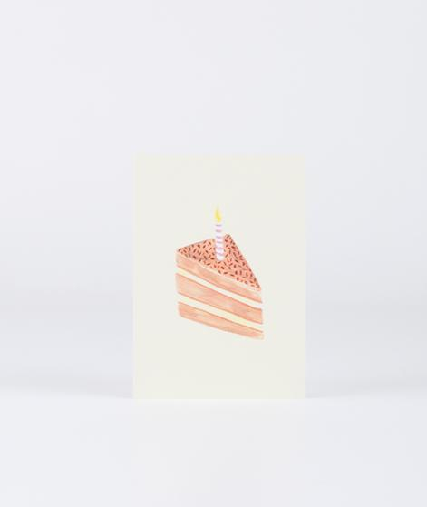 KAUF DICH GLÜCKLICH Postkarte Torte