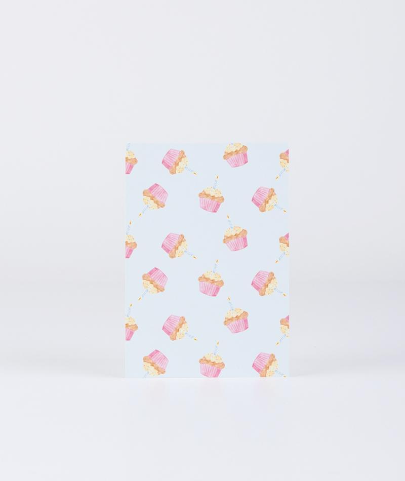 KAUF DICH GLÜCKLICH Postkarte Muffins