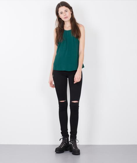 GLOBAL FUNK One Jeans black knee cut