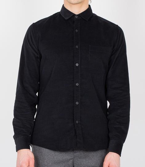 TOPMAN Cord Hemd black