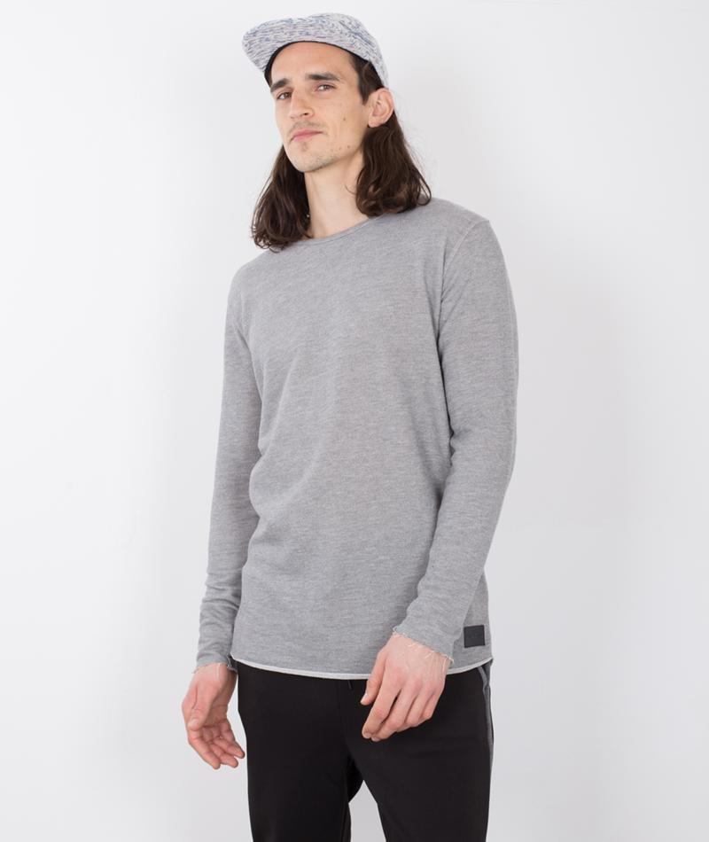 JUST JUNKIES Geo Pullover grey mell