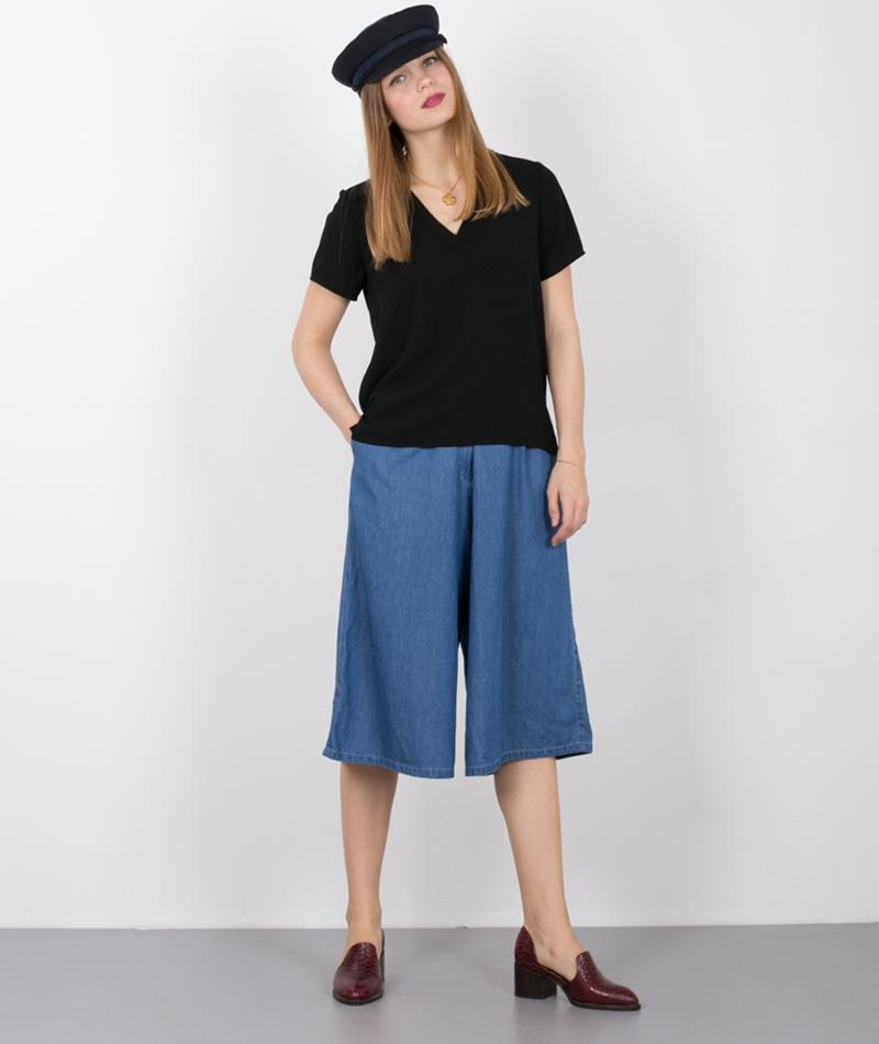 SELECTED FEMME SFPrea Bluse SS Solid black