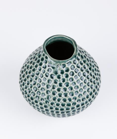 BLOOMINGVILLE Ceramic Vase dark green