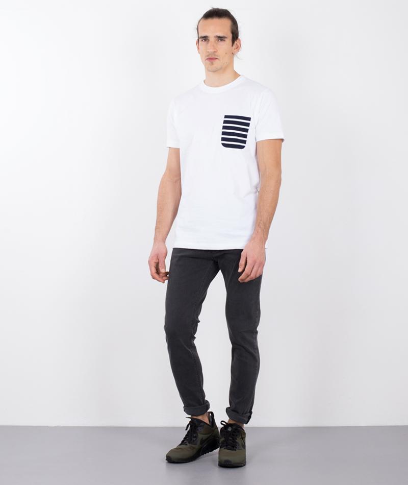 WEMOTO Blake T-Shirt with stripe pocket