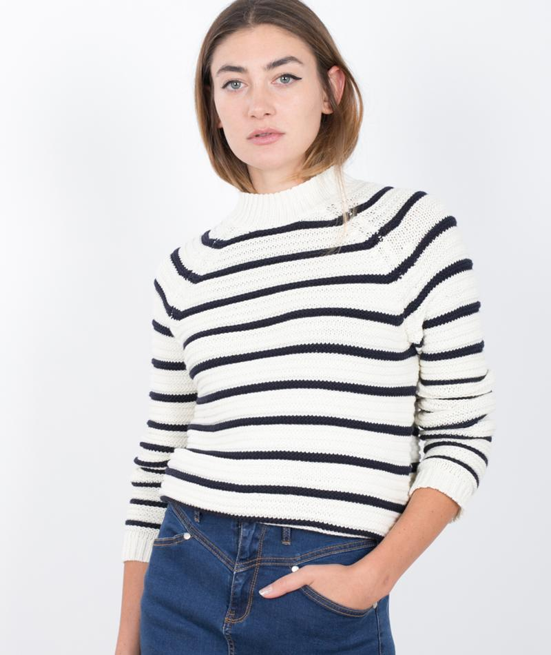 M BY M Tender Pullover navy stripe