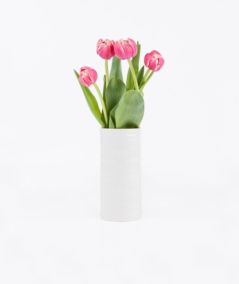 KAUF DICH GLÜCKLICH Pak Vase creme