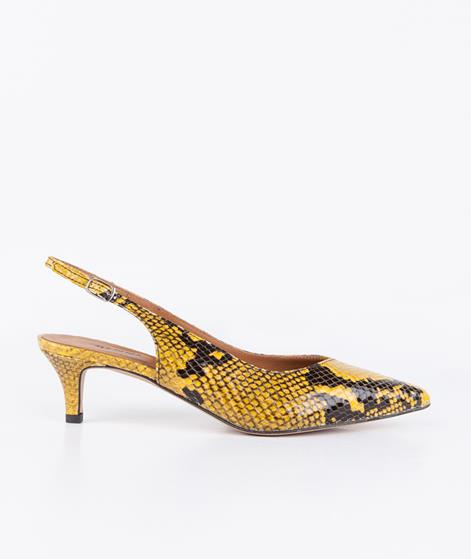 GANNI Megan Snale Pumps in gold fusion