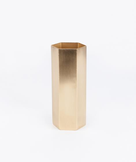 FERM Hexagon Vase gold