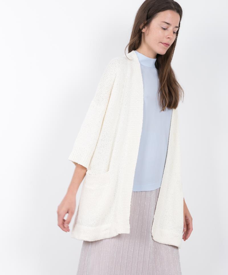 ADPT. Marrakesh Cardigan bright white