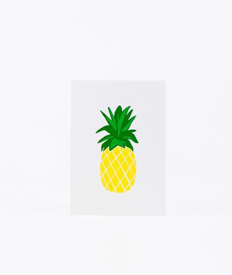 KAUF DICH GL�CKLICH Postkarte Ananas