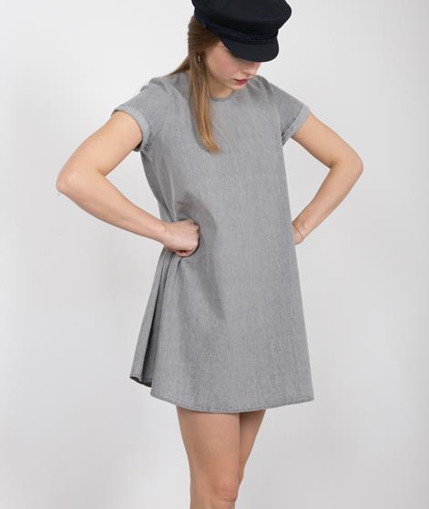 NATIVE YOUTH Denim Tencel Kleid grey