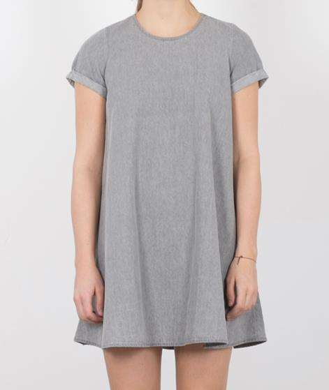 NATIVE YOUTH Denim Tencel Kleid grey